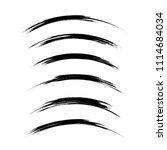 vector set of grunge brush... | Shutterstock .eps vector #1114684034