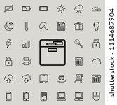 document shelf icon. detailed... | Shutterstock .eps vector #1114687904