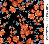 floral seamless pattern. flower ... | Shutterstock .eps vector #1114691897
