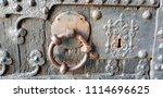oxidized ancient lock   Shutterstock . vector #1114696625