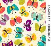 Stock vector butterfly seamless pattern eps vector illustration 111469979