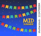 mid summer festival with... | Shutterstock .eps vector #1114700084