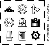 simple 9 icon set of law... | Shutterstock .eps vector #1114702469