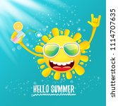 hello summer rock n roll vector ... | Shutterstock .eps vector #1114707635