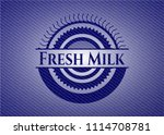 fresh milk emblem with jean... | Shutterstock .eps vector #1114708781