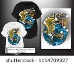 t shirt print design japanese... | Shutterstock .eps vector #1114709327