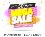 mega sale  up to 50  off ...   Shutterstock .eps vector #1114712807