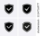 shield and tick icons.... | Shutterstock .eps vector #1114716977