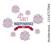 happy independence day. 4th of... | Shutterstock .eps vector #1114717064