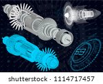 mechanical diagram  vector... | Shutterstock .eps vector #1114717457