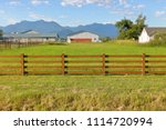 wide view of a small  green...   Shutterstock . vector #1114720994