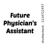 future physician's assistant | Shutterstock . vector #1114721957