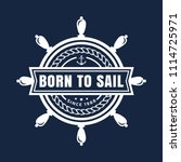 vector nautical emblem with... | Shutterstock .eps vector #1114725971
