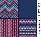 seamless knitted pattern. set... | Shutterstock .eps vector #1114731197