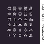 transportation transport icons | Shutterstock .eps vector #1114731491