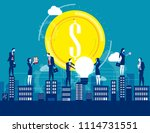 business team working on city. ... | Shutterstock .eps vector #1114731551