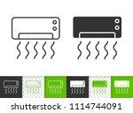 air conditioner black linear... | Shutterstock .eps vector #1114744091