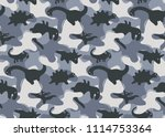 camouflage army seamless... | Shutterstock .eps vector #1114753364