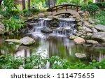 waterfall in the gaden   Shutterstock . vector #111475655