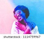 millennial african woman... | Shutterstock . vector #1114759967