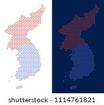 dot north and south korea map.... | Shutterstock .eps vector #1114761821