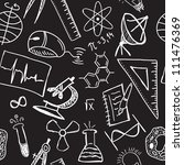 science drawings  on seamless... | Shutterstock . vector #111476369