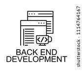back end development icon.... | Shutterstock .eps vector #1114764167