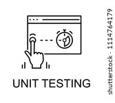 unit testing icon. element of...