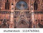 huge tower and elegant exterior ... | Shutterstock . vector #1114765061