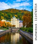 autumn view of old town of... | Shutterstock . vector #1114765514