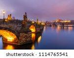 charles bridge  a.k.a. karluv... | Shutterstock . vector #1114765541