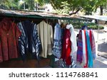 sale of traditional clothes ... | Shutterstock . vector #1114768841