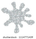 blot shape created with drone...   Shutterstock .eps vector #1114771439
