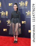 alison brie at the 2018 mtv... | Shutterstock . vector #1114778279