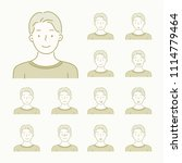 various facial expression emoji ... | Shutterstock .eps vector #1114779464