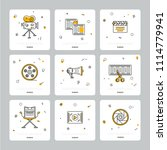 square icons with... | Shutterstock .eps vector #1114779941