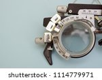 half of a test glasses for high ... | Shutterstock . vector #1114779971