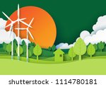 ecology and environment... | Shutterstock .eps vector #1114780181