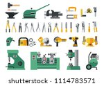 set of master tools for metal.... | Shutterstock .eps vector #1114783571