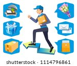 parcel can send with the... | Shutterstock .eps vector #1114796861