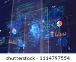 abstract techno background. | Shutterstock . vector #1114797554