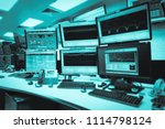 system control room it with... | Shutterstock . vector #1114798124