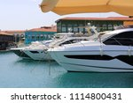 yachts in limassol marina ... | Shutterstock . vector #1114800431