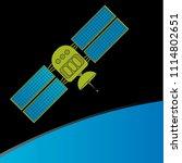 orbital satellite. vector... | Shutterstock .eps vector #1114802651