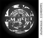 ambient grey camo emblem | Shutterstock .eps vector #1114804991