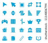 set of basic ui ux icons  with... | Shutterstock .eps vector #1114806794