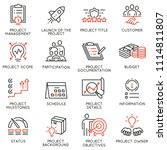 vector set of linear icons... | Shutterstock .eps vector #1114811807