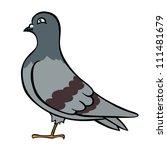 Cute Vector Pigeon