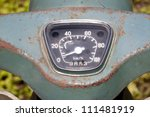 Vintage Speedometer of japanese motorcycle - stock photo