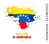 welcome to venezuela. america....   Shutterstock .eps vector #1114821011